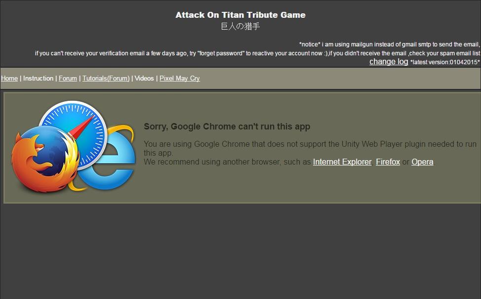 Attack on Titan Tribute Game - Start