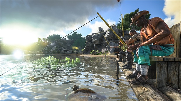 ark survival evolved fishing ark survival