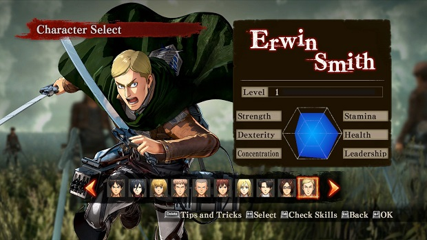 Attack-on-Titan-Wings-of-Freedom-Erwin-Smith